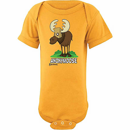 Browning Baby Anonymoose Short Sleeve Onesie At Tractor Supply Co