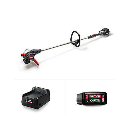 Oregon 40V Trimmer/Edger Kit with 4.0 Ah Battery Pack and Charger