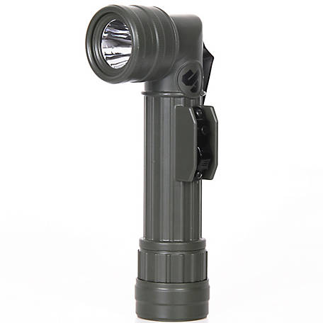 JobSmart Green Aluminum Vintage Military Flashlight, JC-TSC-2737