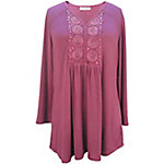 Live & Let Live Ladies Oil Wash 3/4-Sleeve Knit Henley