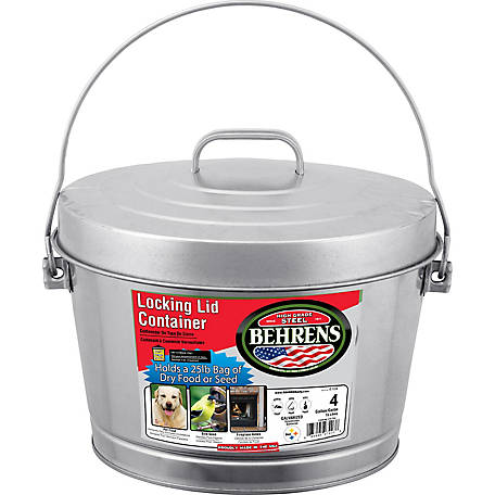 Behrens 4 gal. Galvanized Steel Locking Lid Can with Lid