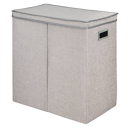 Greenway Collapsible Double Sorter Laundry Hamper, Gray Linen