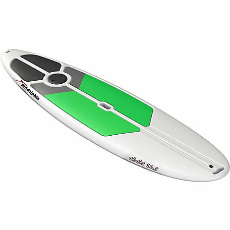 Sun Dolphin Ahala 10.5 SUP, White with Lime Pads