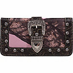 Mossy Oak Emma Buckle Wallet with Mossy Oak Pink Camo