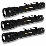 Smarter Tools Everbright 250 Lumens BrightBeam Tactical Flashlight, Pack of 3