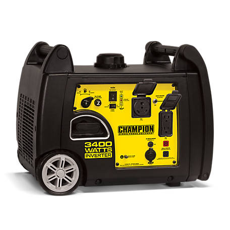 Champion Power Equipment 3400-Watt RV Ready Portable Inverter Generator, 100233