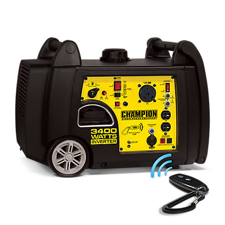 Champion Power Equipment 3400-Watt RV Ready Portable Inverter Generator with Wireless Remote Start, 100261