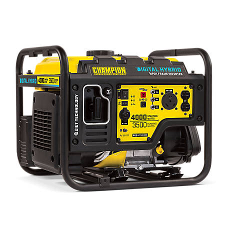 Champion Equipment 3500 Watt Rv Ready Digital Hybrid Portable Inverter Generator With Quiet Technology
