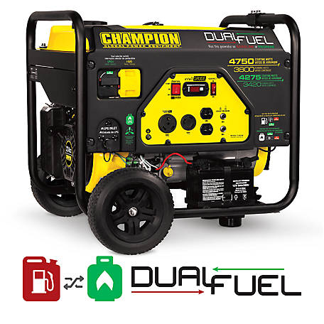 Champion Power Equipment 3800-Watt Dual Fuel RV Ready Portable Generator with Electric Start, 76533