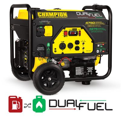 generators for sale used champion power equipment 3800watt dual fuel rv ready portable generator with electric start generators at tractor supply co