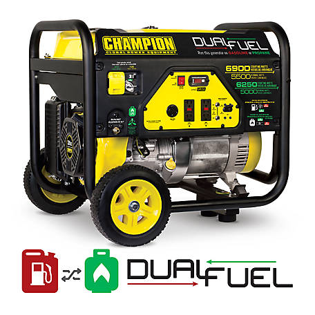 Champion Power Equipment 100231 5500W Dual-Fuel Portable Generator with Wheel Kit