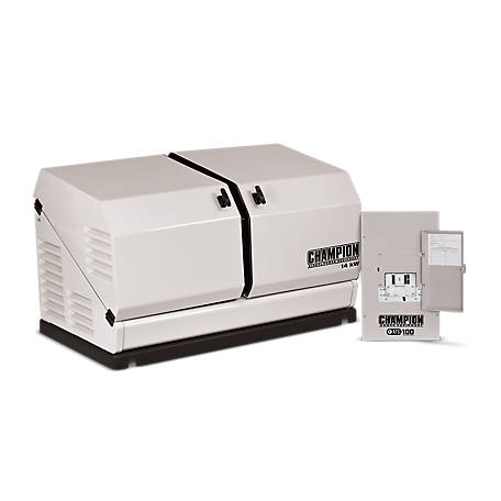 Champion 14-kW Home Standby Generator with 100-Amp Indoor-Rated Automatic Transfer Switch (not recommended for CA installation)