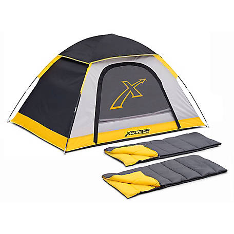 Xscape Design Explorer 2 Person Dome Tent Two Sleeping Bag Combo At Tractor Supply Co