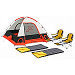 Xscape Design Torino 3-Person Dome Tent, Sportline & Two Sleeping Bag Combo