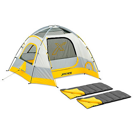 Xscape Designs Vertex 4 Person Dome Tent Two Sleeping Bag Combo At Tractor Supply Co