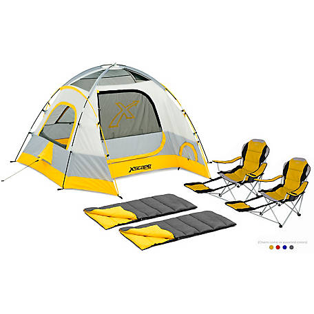Xscape Designs 4 Person Dome Tent Sportline Two Sleeping Bag Combo At Tractor Supply Co