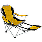 Xscape Designs Sportline Quad-Fold Chair with Footrest, Yellow