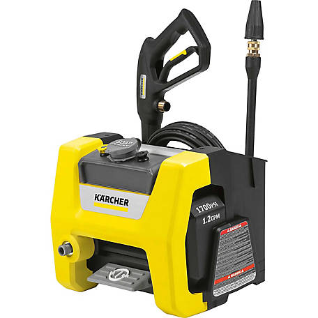 Karcher K1700 CUBE 1700 PSI 1.2 GPM Electric Power Pressure Washer, 1.106-113.0