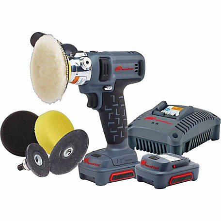 Ingersoll Rand 12V Cordless Polisher/Sander, 2 Battery Kit