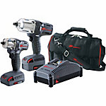 Ingersoll Rand IQV20-2012 20V Cordless 1/2 in. & 3/8 in. Impact Combo 2 Battery Kit