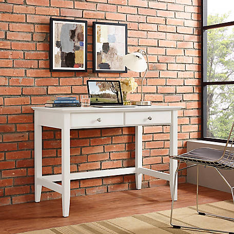 Crosley Campbell Writing Desk In White Finish, CF6506-WH