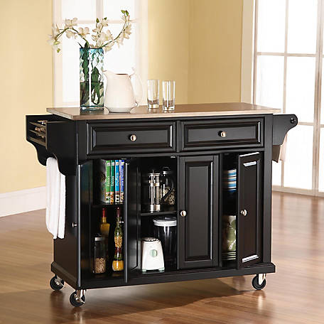 Crosley Stainless Steel Top Kitchen Island Cart Kf30002 At Tractor Supply Co