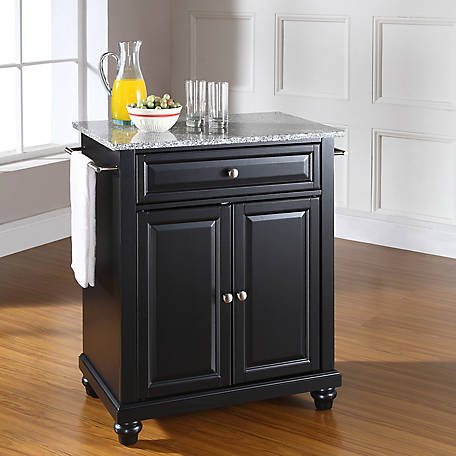 Crosley Cambridge Granite Top Portable Kitchen Island, KF30023,