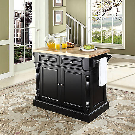 Crosley Oxford Butcher Block Top Kitchen Island, KF30006