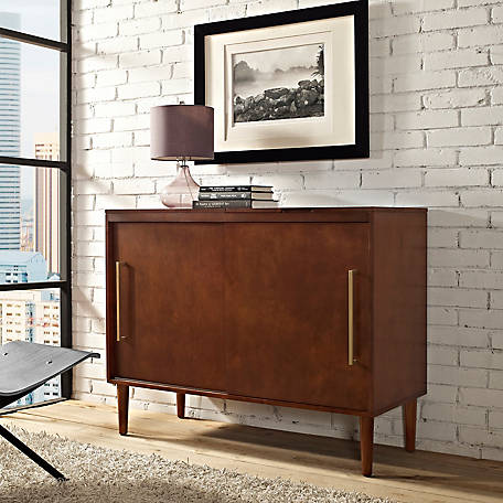 Crosley Everett Media Console in Mahogany Finish, CF1103-MA