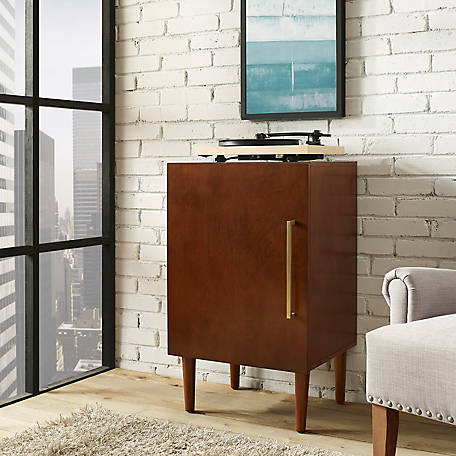 Crosley Everett Record Player Stand, Mahogany Finish