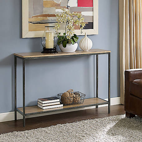 Crosley Brooke Console Table in Washed Oak, CF6111-WO