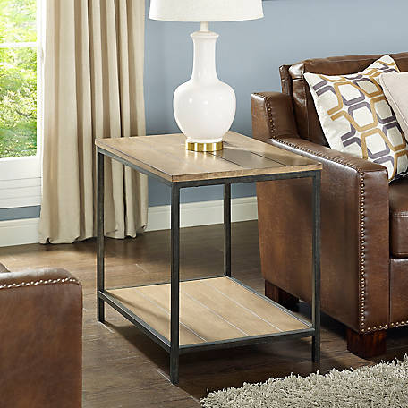 Crosley Brooke End Table in Washed Oak, CF6113-WO