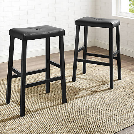 Crosley Upholster Sddl Seat Bar Stool, 29 in., Set of 2, CF500229
