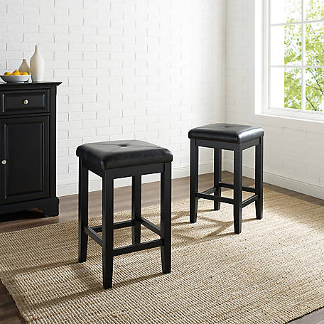 Crosley Upholster Square Seat Bar Stool, 24 in., Set of 2, CF500524