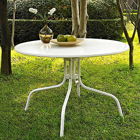 Crosley Griffith Metal 40 in. Dining Table White, CO1012A-WH