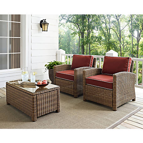 Crosley Bradenton 2 pc.wicker Seating Set, KO70026WB