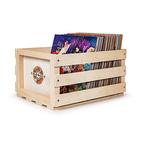 Crosley Rustic Wooden Record Crate, AC1004A-NA