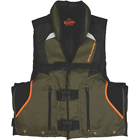 Stearns Competitor Series Fishing Vest, 4X/7X, Green and Black