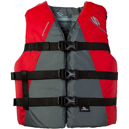 Stearns Youth Extra Long Watersports Vest, Red