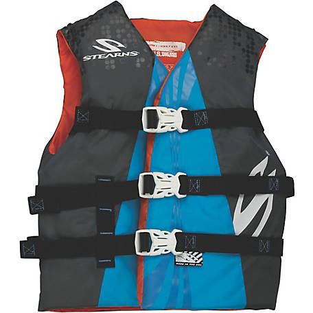 Stearns Youth Extra Long Watersports Vest, Blue