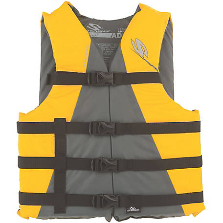 Stearns Adult Watersport Classic Series Vest, Oversize, Yellow
