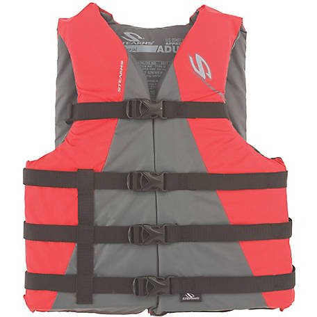 Stearns Adult Watersport Classic Series Vest, Universal, Red