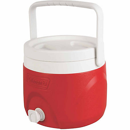 Coleman 2 gal. Party Stacker Beverage Cooler, Red