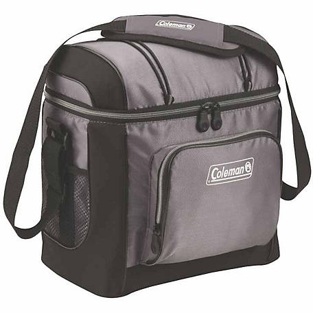 Coleman 16-Can Cooler with Liner, Gray