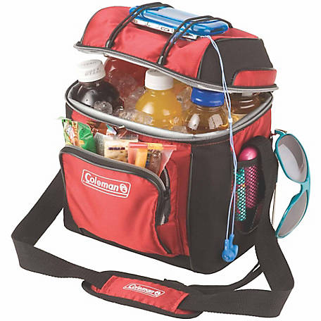 Coleman 9-Can Cooler with Liner, Red