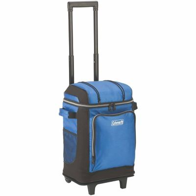 Coleman 42-Can Wheeled Cooler; Blue