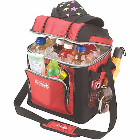 Coleman 30-Can Cooler with Liner, Red)