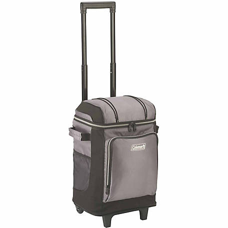 Coleman 42-Can Wheeled Cooler with Liner, Gray