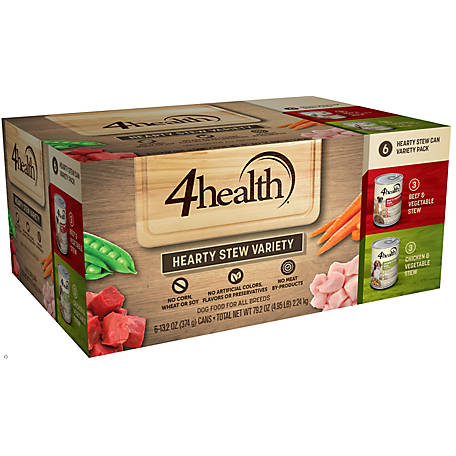 4health Original Beef Stew in Gravy and Chicken & Vegetable Stew in Gravy Variety Pack, 13. oz. Can, Pack of 6
