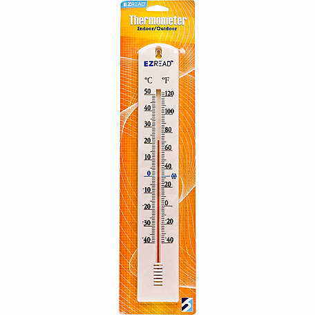 EZ Read 15.5 in. Thermometer, White